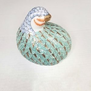 Other - Ceramic partridge figure teal gold